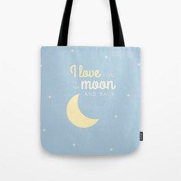 Moon and back Tote Bag