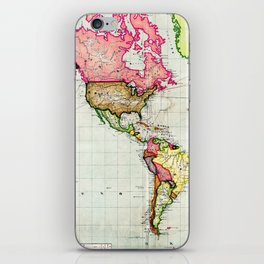 Colorful Antique Map of the World iPhone Skin