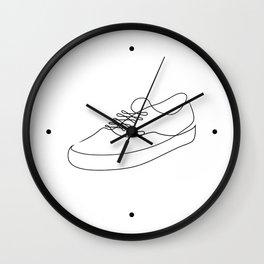 Sk8r Boi - Single line art Wall Clock