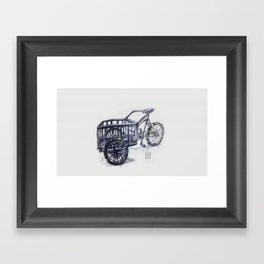 vietnam delivery bike Framed Art Print