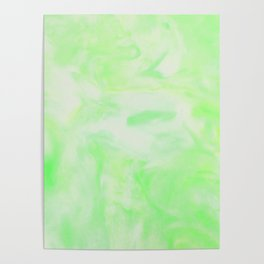 Neon Green Marble Poster