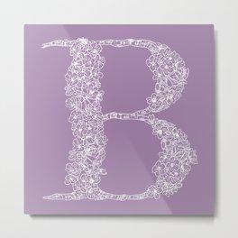 B Lavender Metal Print