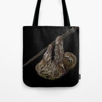sloth Tote Bags featuring sloth  by JosephMills