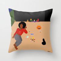 tarot Throw Pillows featuring Tarot Cards by Akujixxv