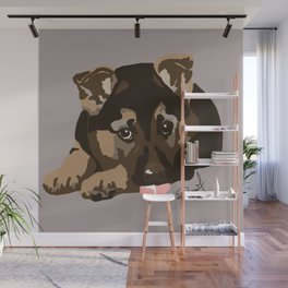 German Shepherd Puppy Wall Mural