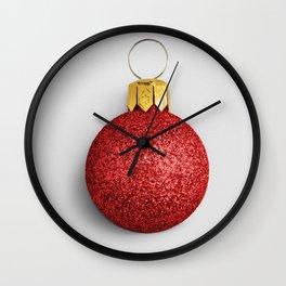 Glitter Christmas Wall Clock