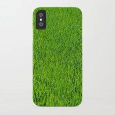 Green Grass Pattern iPhone X Slim Case
