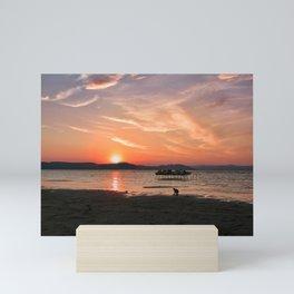 Sunset Silhouette Mini Art Print