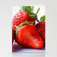 strawberry Stationery Cards featuring Strawberry by Nicole Mason-Rawle