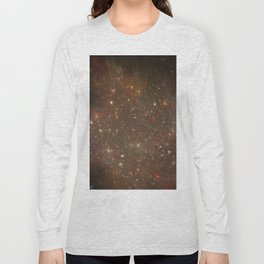 Rosettes Star Splattered Canvas Long Sleeve T-shirt