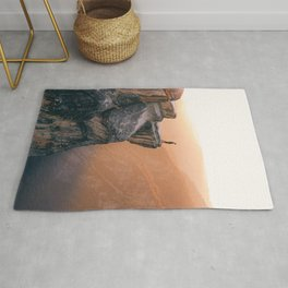 On the cliff, Yosemite Rug