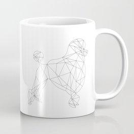 Poodle - white Coffee Mug