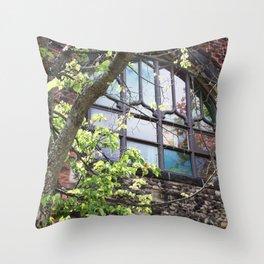 Church Window, Charlottetown Throw Pillow