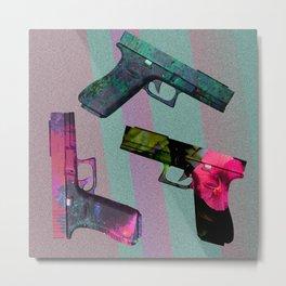 Pretty Pistols Metal Print