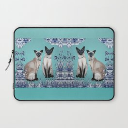 Siamese Cats Laptop Sleeve