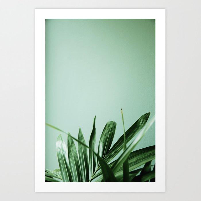 Minimalist green succulent Art Print by sarahboyens