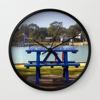 relax Wall Clocks featuring Relax! by Chris' Landscape Images & Designs