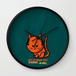 Moody cat Wall Clock