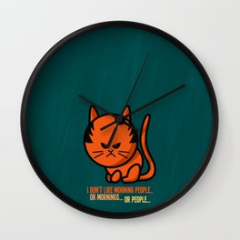 Moody cat Wall Clock