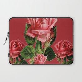 ROSE MADDER ANTIQUE VINTAGE ART PINK ROSES Laptop Sleeve