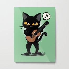 Cat guitar Metal Print