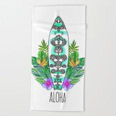 Surf style Aloha Beach Towel