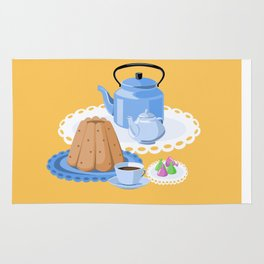 Time to drink tea Rug