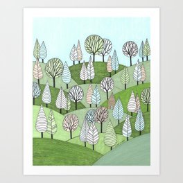 Little Cottage in the Woods Art Print