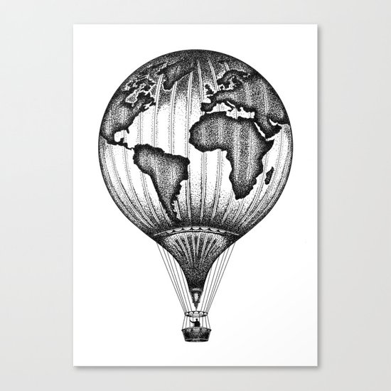 EXPLORE. THE WORLD IS YOURS. (No text) Canvas Print