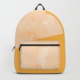 Orange Marble Geometry Backpack