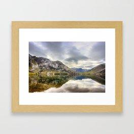 Lake Enol Framed Art Print