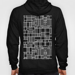 Map Lines Black Hoody