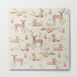 Forest Animals Metal Print