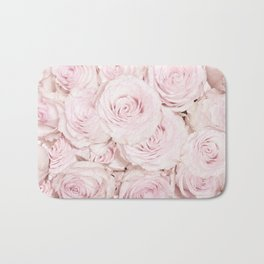 Roses have thorns- Floral Flower Pink Rose Flowers on #Society6 Bath Mat