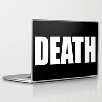 death star Laptop & iPad Skins featuring Death by Sinister Star