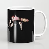 michael clifford Mugs featuring Michael Clifford by Becca / But-Like-How