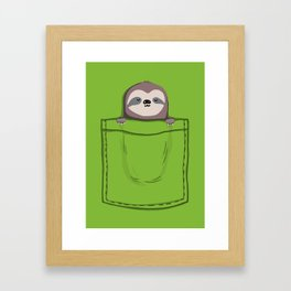 My Sleepy Pet Framed Art Print