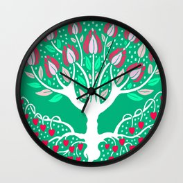 Love Grows Forever - Emerald Green Wall Clock