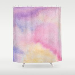 Abstract artistic hand painted pink lavender watercolor Shower Curtain