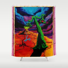Trippy Psychedelic Surrealism by Vncent Monaco - The Balance Shower Curtain