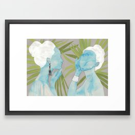 girls with silver jewelry / palmiye II Framed Art Print
