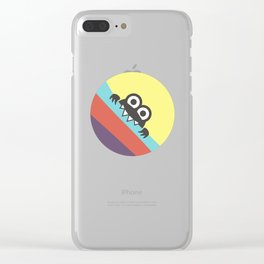 Funny Bug Bites Candy Colored Stripes Clear iPhone Case