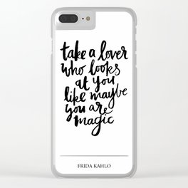 take a lover Clear iPhone Case