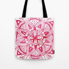 Mandala - Pink Watercolor Tote Bag