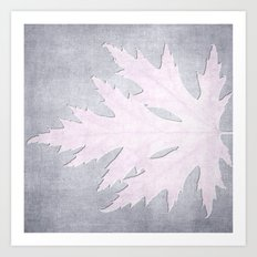 PRESSED LEAF Art Print