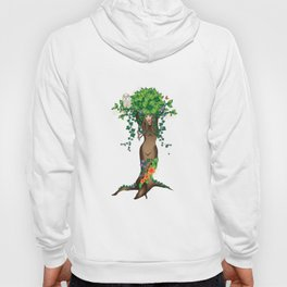 Mystical Maiden Tree With White Owl Hoody