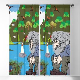 Norwegian giant  Troll 1 Blackout Curtain