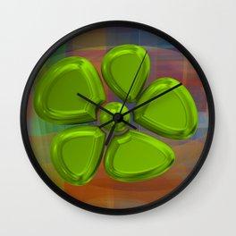 FLOWER 2 GREEN Wall Clock