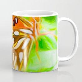 Orange Butterfly Wing Coffee Mug
