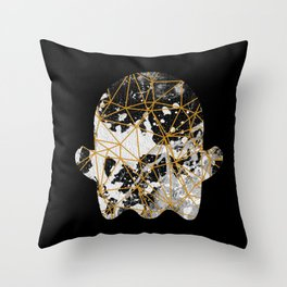 Emoji ghost abstract with splash Throw Pillow